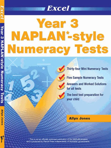 excel naplan style numeracy test year  pascal press
