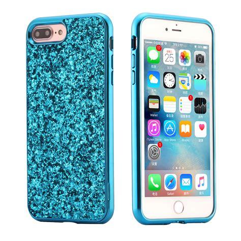 for apple iphone 8 7 plus 6s bling hybrid glitter tpu protective cover ebay