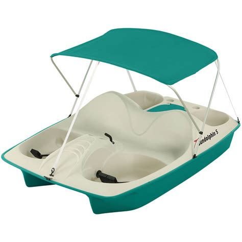 sun dolphin paddle boat canopy sun dolphin 5 seat pedal boat with canopy teal west