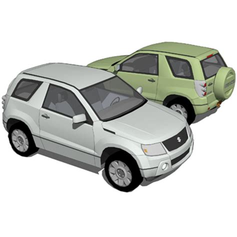 2 Door Suzuki Suzuki Vitara 2 Doors 3d Model Formfonts 3d Models