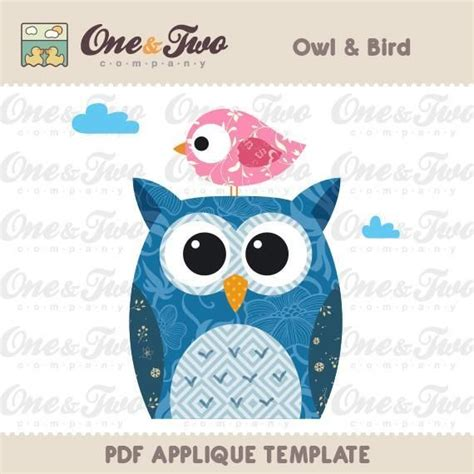 Owl Applique Template by Sewing Owl Bird Applique Template Bird Designs