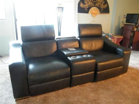 recliner with cup holder and speakers home theater leather electric recliners saanich victoria