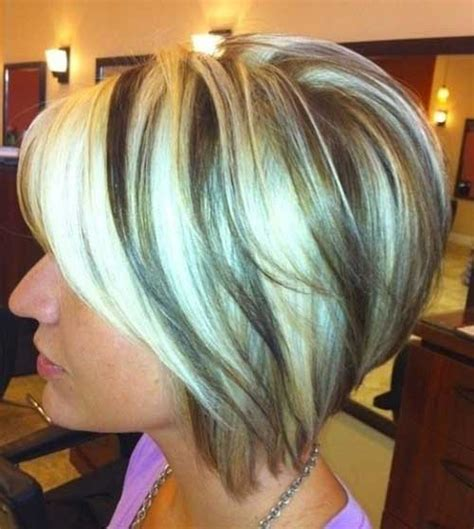bob haircut with chunky highlites bobs with highlights and lowlights short hairstyle 2013
