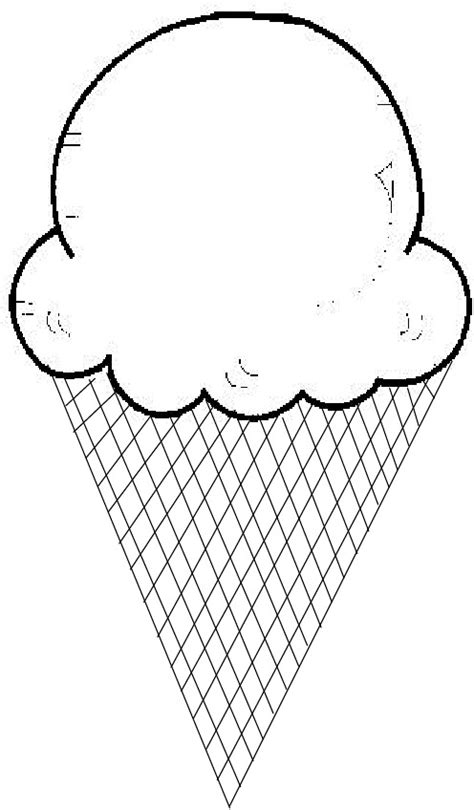 ice cream cone templates to laminate cut for matching