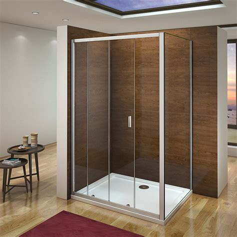 Quality Shower Doors Quality Sliding Shower Enclosure Door Cubicle Side Panel Tray Free Waste A Ebay