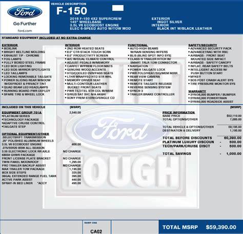 Index Price Sticker platinum prices page 6 ford f150 forum community of