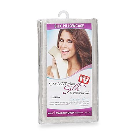 as seen on tv bed bath and beyond as seen on tv smooth as silk silk charmeuse pillowcase