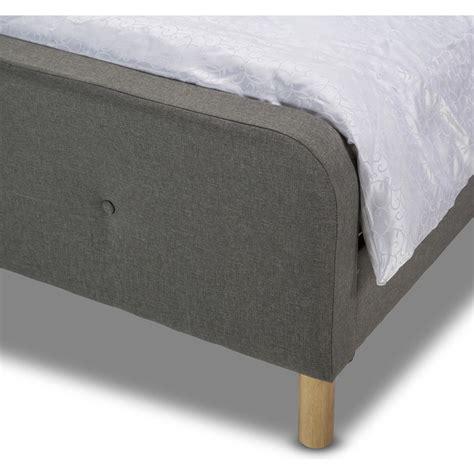 light grey upholstered bed brayden queen upholstered bed frame in light grey buy