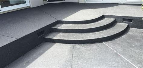 decorative concrete sted concrete exposed aggregate