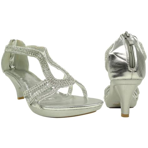womens low platform heel sandals embellished drop