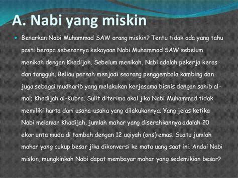 Nabi Muhammad Saw The Leader Manager Edisi Biasa benarkan nabi miskin ppt