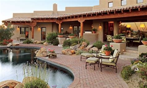 pueblo style home  traditional southwestern design
