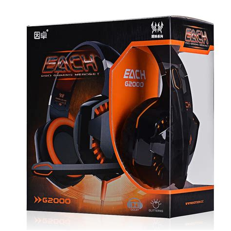 Each G2000 Bass Stereo Surrounded Ear Gaming Berkualitas new each g2000 bass headphone stereo surrounded ear gaming headset headband earphone