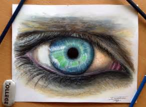 colored pencil artists eye color pencil drawing by atomiccircus on deviantart
