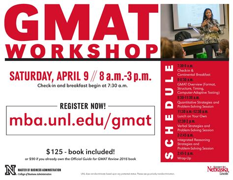 Unl Mba Average Gmat gmat workshop on april 9th announce of