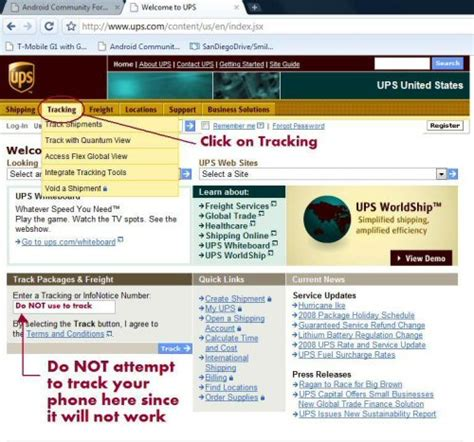ups tracking mobile how to track your t mobile g1 phone with ups when it ships