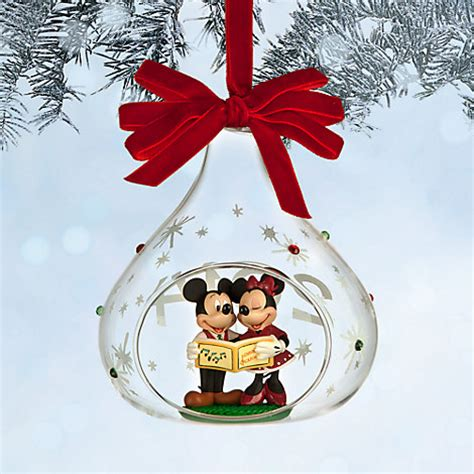 disney 2014 mickey minnie mouse sketchbook glass christmas