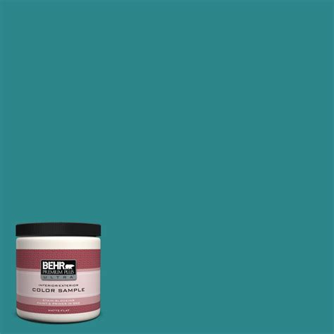behr premium plus ultra 8 oz m460 6 thai teal interior exterior paint sle ul20316 the