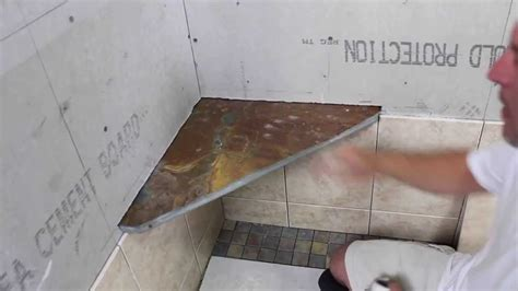 installing granite shower bench how to tile a shower shower bench installation the