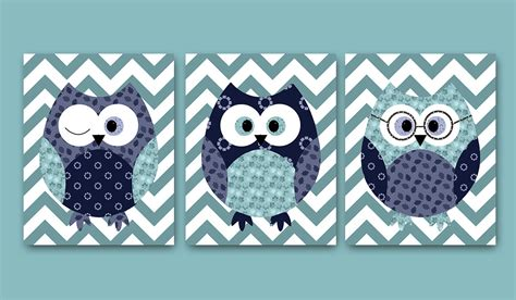 Kids Wall Decor Owl Decor Owl Nursery Baby Boy Nursery Decor Owl Decorations For Baby Nursery