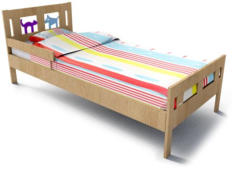 objeto cad e bim kritter bed frame and guard rail ikea