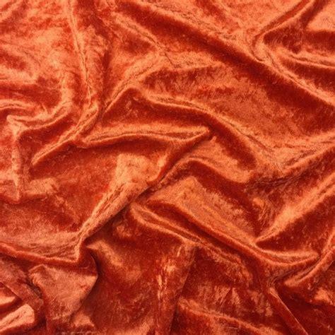 orange velvet sofa fabric discover direct crushed velvet dress fabric burnt orange