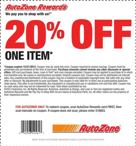 Autozone Printable Coupon autozone coupon printable coupons more