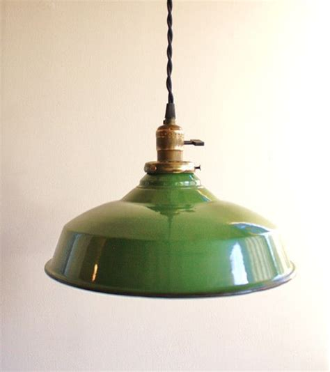 vintage green enamel pendant l pendant lights green