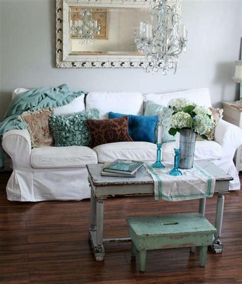 Shabby Chic Ikea Ektorp Sofa In Chalk White Linen With Ikea Shabby Chic