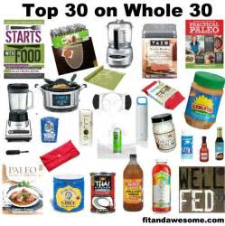 Top 30 products on whole 30 paleo