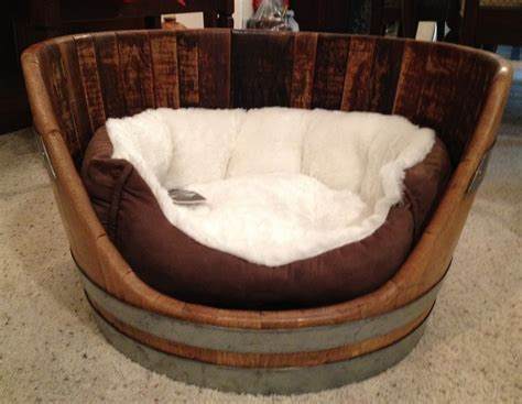 wine barrel bed 17 best images about pet beds on creative and houses
