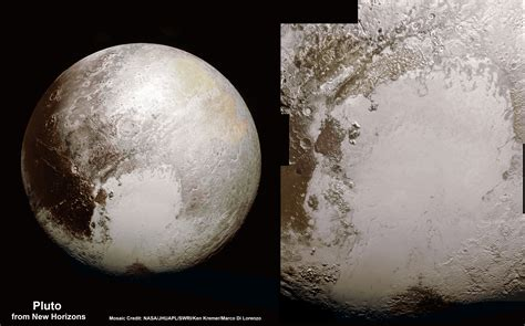 pictures of new global pluto mosaic from new hi res imagery reveals