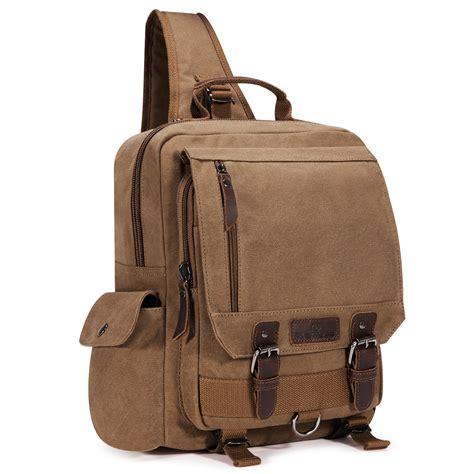 design effect for random sling men canvas travel hiking cross body messenger shoulder