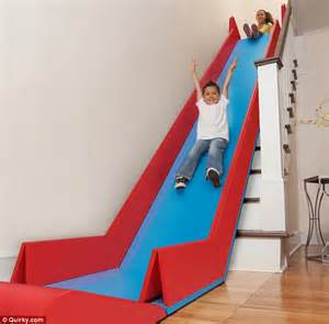 Stair Slide by Sliderider Fold Up Mat Turns Stairs Into A Slide Daily