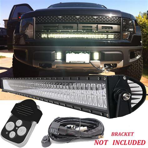 Front Led Light Bar 40 Quot Led Work Light Bar Front Bumper For 09 Ford Truck F 150 Fx2 4 Svt Ebay