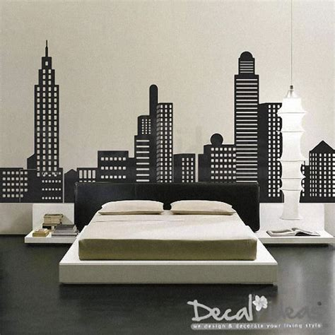 skyline wall sticker new york city new york skyline city skyline decal city