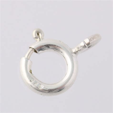 new findings ring clasp sterling silver 925
