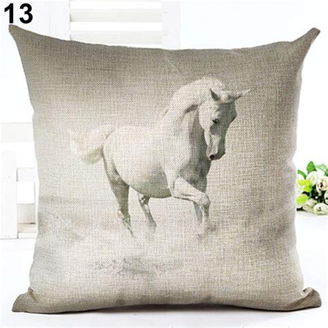 Sofa Pillow Cases Watercolor Pillow Cases Cotton Linen Sofa Cushion