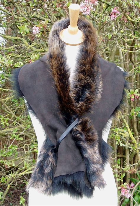 sheepskin scarves made from mongolian toscana