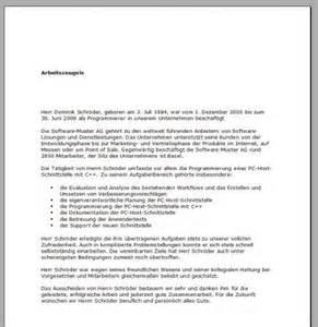 Vorlagen Zeugnis Muster Arbeitszeugnis Muster Freeware De