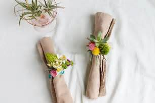Ideas For Decorating A Small Bathroom Diy Floral Napkin Rings