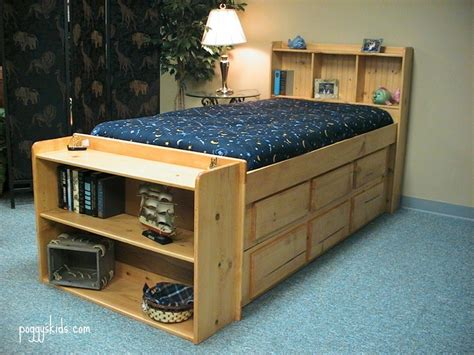 captains bed woodworking plans bookcase captain s bed custom by chris davis