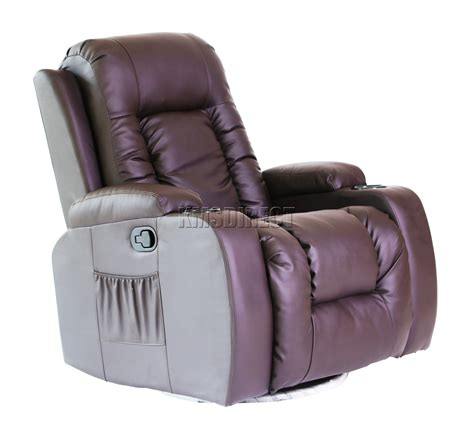 cinema recliner chair foxhunter leather massage cinema recliner sofa chair