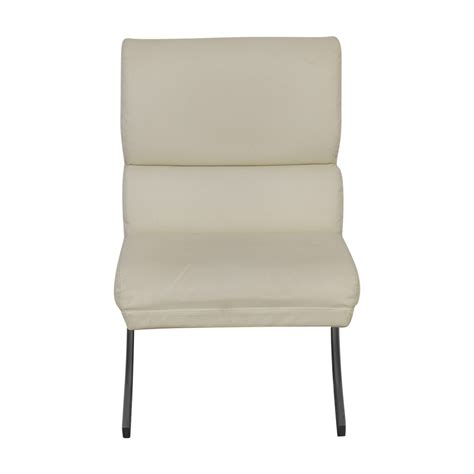 White Leather Accent Chair by 86 Dimensions Dimensions White Leather Accent Chair