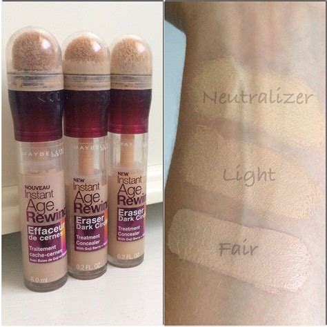 Maybelline Instant Age Rewind Shade Light maybelline instant age rewind concealer follow my