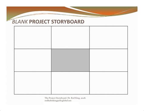 project storyboard project storyboard template 7 free sle exle
