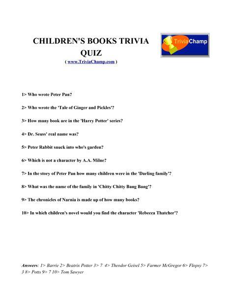 printable quiz harry potter 5 best images of printable harry potter trivia harry
