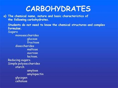 carbohydrates characteristics carbohydrate and its functional properties in food