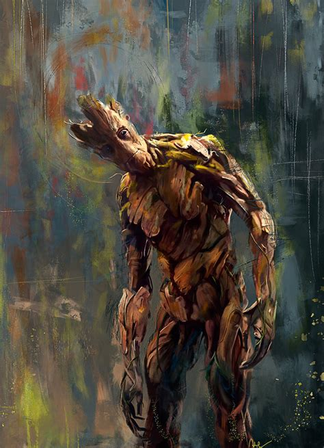 I M Painting A Picture by I Am Groot By Wisesnailart On Deviantart
