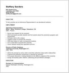 University Admission Resume Sample Education Resume Examples